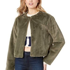 JUICY COUTURE OLIVE GREEN FUR JACKET